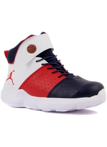 Cool 19-K31 Erkek Çocuk Lacivert Kırmızı Basketbol Spor Ayakkabı Lacivert